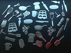Kitchen Utensil Die Cut Set - 38 Pieces in Assorted Colours; card making etc