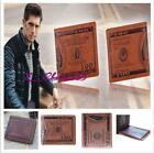 Hot Men Brown PU Leather Wallet US Dollar Bill Purse Credit Card Photo Holder S