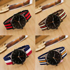 1pc Unique Weaving Canvas Nylon Strap Watch Women's Fashion Accessory Good Gifts