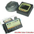 10A/20A Dual Battery Solar Panel Charge Controller/Regulator + Remote Meter Kit