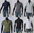 Mens Short Sleeve Slim Fit Polo T-shirts Tops Designed Stylish Casual Shirt Tee