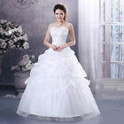 New White/Red Wedding Dress Bridal Gown Bridesmaid UK