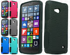 For Nokia Lumia 640 MESH Hybrid Silicone Rubber Skin Case Phone Protector Cover