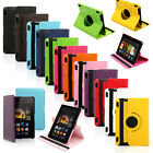 """360 Rotating PU Leather Case Cover w Stand For 2013 Amazon Kindle Fire HDX 7"""""""
