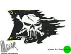 ill Gear PUNISHER Ripped Pirate Skull Flag Velcro Patch Tactical Black Morale