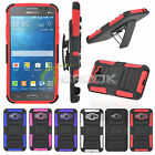 Rugged Hybrid Clip Holster Stand Case Soft Cover For Samsung Grand Prime G5308