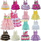 Toddler Lace Tiered Rustic Baby Girl Kid Ruffle Wedding Tutu Fancy Dress Clothes