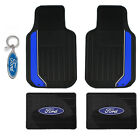 New Ford Factory Car Suv Truck Black Rubber Floor Mats & Keychain Made in USA