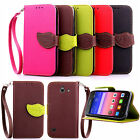 PU Leather Flip Wallet Leaf Magnet Stand Skin Cover Case For Huawei Ascend Y550