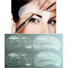 4Pcs 4 Style Eyebrow Shaping Stencil Eyebrow Template Plastic Makeup Beauty Tool