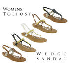 Toepost Small Wedge Flip Flop Buckle Summer Womens Strappy Sandals UK3-9