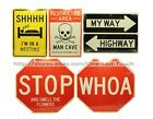 *BENDON Two-Sided! STREET WISE SIGNS Ideal For Office+Bedroom+MORE *YOU CHOOSE*