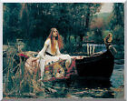 Stretched Artwork The Lady of Shalott by John William Waterhouse Painting Repro