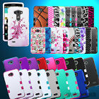 For LG Phones Hybrid Tuff Rubber Protective Hard Skin Case Heavy Duty Cover