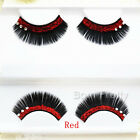 Red / Gold / Silver Glitter Rhinestone Thick Stylish Stage Party False Eyelash