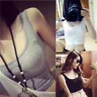 Women Vest Tight Crop Top Skinny O-Neck T-Shirts Sports Dance Short Vest Sexy