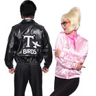 T-Birds Gang Jacket 1950 Mens 50s Black Grease Danny T bird Tbird Costume