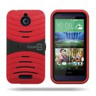 For HTC Desire 510 - Hybrid Kickstand Rugged Dual Layer Cover Tough Case