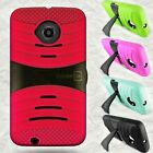 For Motorola Moto E (2nd Generation 2015) Case Protective Hybrid Kickstand Cover