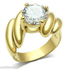 Round Shape Mounted  4.7ct CZ 18kt Gold EP Ladies Fashion Ring