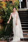 New Women's Long Grace Church Bride Wedding Dress Lace Covering Trailing Veil