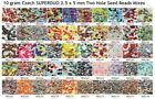 10 gram or 24 gram Czech SUPERDUO 2.5 x 5 mm Two Hole Seed Bead Mixes