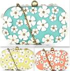 Darling Daisie Clutch Bag Pastel Peach Lime / Blue Occasion Wedding Fun & Cute