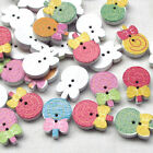 New 10/50/100/500pcs Wood Buttons Lollipop Sewing Craft 2 Holes T0793