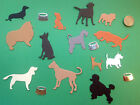 Dog Die Cut Shapes - Cardmaking, Scrapbooking, Assorted Colours (set of 15)