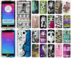For LG Leon C40 Rubberized HARD Protector Case Snap Phone Cover + Screen Guard