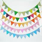 Chic Cotton Handmade Vintage Triangle Flag Bunting Banner For Wedding Decor - CB