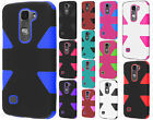 For LG Escape 2 IMPACT TUFF HYBRID Protector Case Skin Phone Covers Accessory