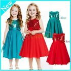 NEW Sequin rose Flower Girl Pageant Wedding Bridesmaid Party Birthday Gown Dress
