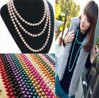 Wholesale Fashion long multilayer pearl Necklace