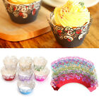 12pcs Filigree Vine Cupcake Wrappers Wrap Case Laser Cut Wedding Birthday Party