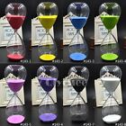 1pc Glass Sand Sandglass Timer Clock Hourglass Home Decor 60 Minutes  Gift Ideas