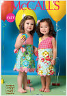 McCall's 7143 Paper Sewing Pattern to MAKE Easy Wrap Dresses Child Sizes