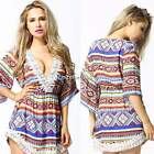 2015 Women's Summer Sexy Lace Floral Casual Party Beach Short Mini Dress N4U8