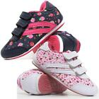 Girls Kids Childrens Infants New Casual Velcro Strap Summer Trainers Shoes Size