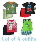 SHIRT SHORTS UNDER ARMOUR BOYS SUMMER LOT SETS OUTFITS TOP TEE PLAYWEAR INFANT
