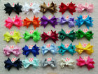 "3.5"" Baby Girl Toddler Boutique Hair Bow partially lined Clip Grosgrain Ribbon A"