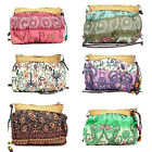 Women Girls Boho Exotic Straw Weave Cloth Handbag Messenger Bag 6 Colors