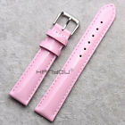 Women's Luster Genuine Leather WatchBand Watch Strap 12mm-20mm black red white