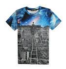 New Multicolor T-shirt 3D Funny Fashion Tee Short Sleeve Women Men Hiphop Top
