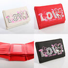 Girls Faux Leather Purse Kids Wallet Love Bunny Rabbit Style Ladies Coins Money