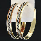 New Fashion Jewelry Zebra Frosted Big Gold Hoop Earrings for Women Hot Selling
