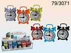 Mini Metal Alarm Clock - Battery - Green Purple Orange Black Red Blue - New