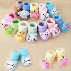 KIDS CUTE BABY BOY GIRL NON- SLIP SHOES CARTOON ANIMAL SLIPPER BOOTS SOCKS