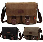 Fashion Men's Retro Canvas School Satchel Military Shoulder Messenger Bags US11