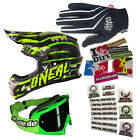 ONEAL 2014 Motocross Helm 3series Crawler Brille Deft Handschuhe Stickersets MX
